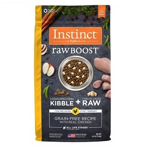 Nature's Variety Instinct Raw Boost Kibble Canine - Chicken 12.3#