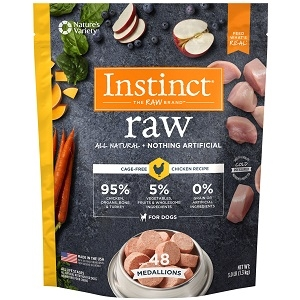 Nature's Variety Instinct Organic Raw Chicken Medallions 3 Lb