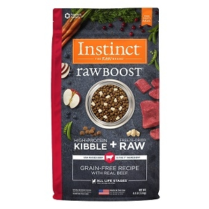 Nature's Variety Instinct Raw Boost Canine Kibble - Beef Meal Formula - 4.1 lbs.