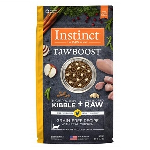 Nature's Variety Instinct Raw Boost Kibble Feline - Chicken 5.1# C=4