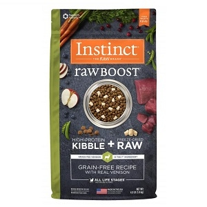 Nature's Variety Instinct Raw Boost Kibble Canine - Venison 4.1lb