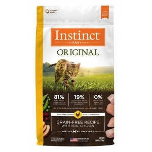 Nature's Variety Instinct Chicken Meal Formula - 5.5 Lb Cat 4/Case