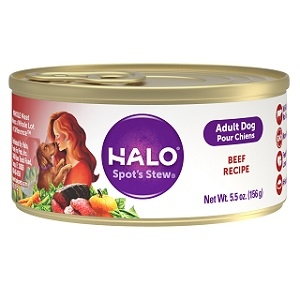 Halo Holistic Beef Recipe for Adult Dogs, 12/5.5 oz.