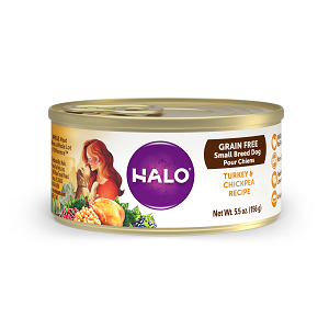 Halo Small Breed Grain Free Turkey and Chickpea Recipe for Dogs 12/5.5 oz