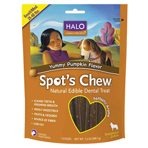 Halo Spot's Chew® Dental Treat Yummy Pumpkin  - Small/Medium