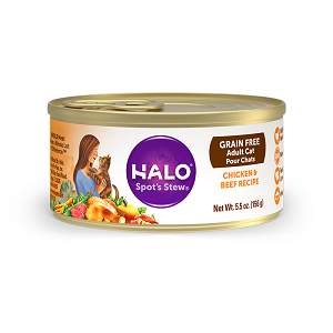 Halo Holistic Grain Free Chicken and Beef Recipe for Adult Cats 12/5.5 oz.