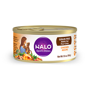 Halo Holistic Grain Free Chicken Recipe for Adult Cats 12/3 oz.