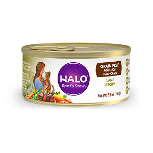 Halo Holistic Grain Free Lamb Recipe for Adult Cats 12/3 oz.
