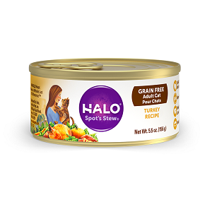 Halo Holistic Grain Free Turkey Recipe for Adult Cats 12/3 oz.