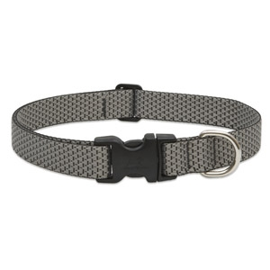 "LupinePet Eco 1"" Granite 12""-20"" Adjustable Collar for Medium & Larger Dogs"