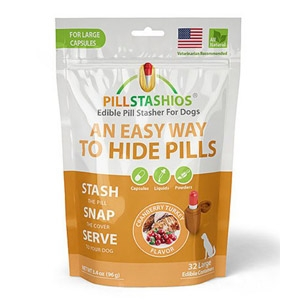 PillStashios Cranberry Turkey Flavored Edible Pill Stasher