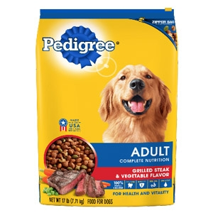 PEDIGREE® Dry Dog Food Adult Grilled Steak & Vegetable Flavor