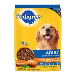 PEDIGREE® Dry Dog Food Adult Roasted Chicken, Rice & Vegetable Flavor