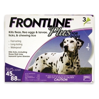 Frontline Plus for Dogs 45-88 Pounds 3-Dose