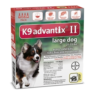 Bayer K9 Advantix II Flea Treatment for Large Dogs 4 Pack