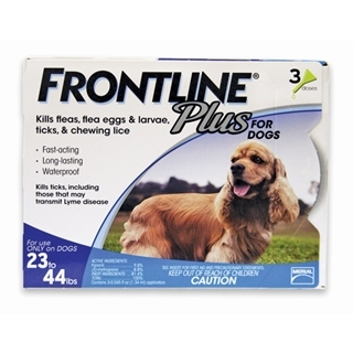 Frontline Plus for Dogs 23-44 Pound 3-Dose
