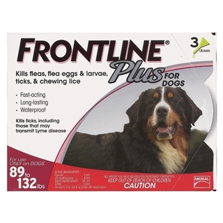 Frontline Plus For Dogs 89 -132 Pound