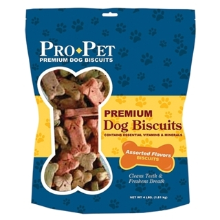 Pro Pet Premium Dog Biscuit Assorted Flavors 4 Pound