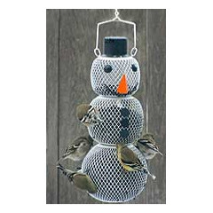 No/no Snowman Bird Feeder 15in