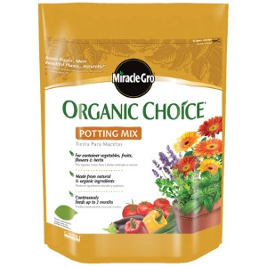 Miracle Gro Organic Choice Potting Mix 8qt