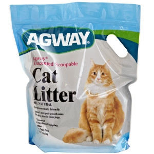 Agway Unscented Scoopable Cat Litter All Natural 14lb