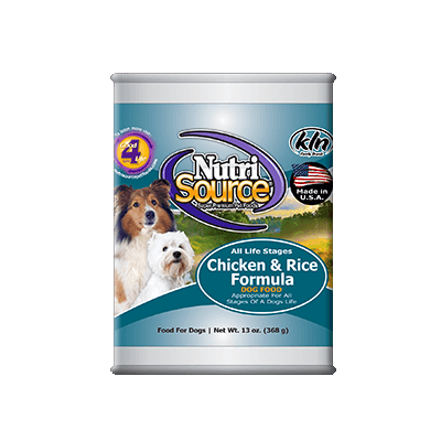 NutriSource® Chicken & Rice Canned Dog Food