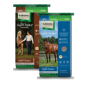 $1 Off Select 50lb Bags of SafeChoice Horse Feeds