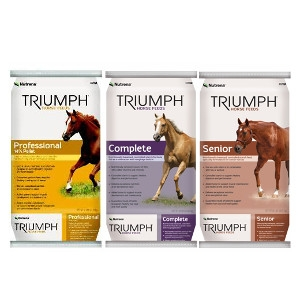 Triumph Horse Feeds Now $.50 Off a Bag