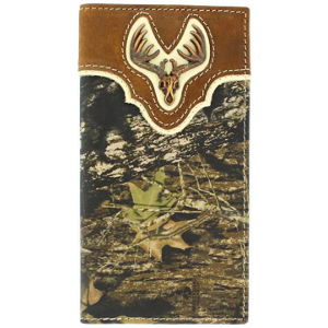 Mossy Oak Deer Skull Concho Rodeo Wallet