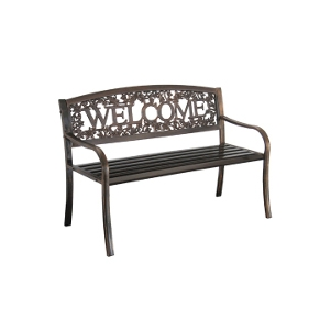"METAL BENCH ""WELCOME"""