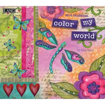 Lang Color My World 2017-2018 Wall Calendar
