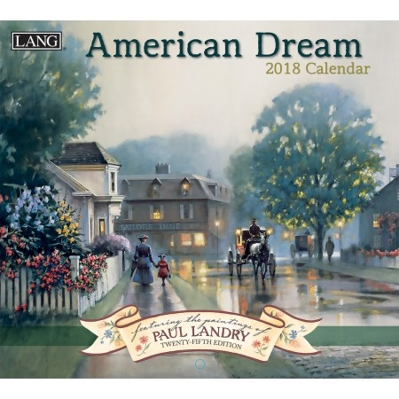 Lang American Dream 2017-2018 Wall Calendar