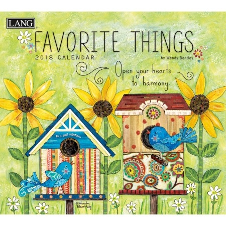 Lang Favorite Things 2017-2018 Wall Calendar