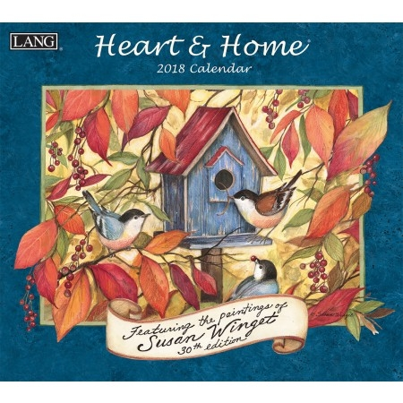 Lang Heart & Home 2017-2018 Wall Calendar