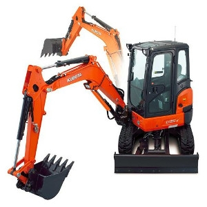 Kubota Zero Tail Swing Excavator With Cab, Thumb