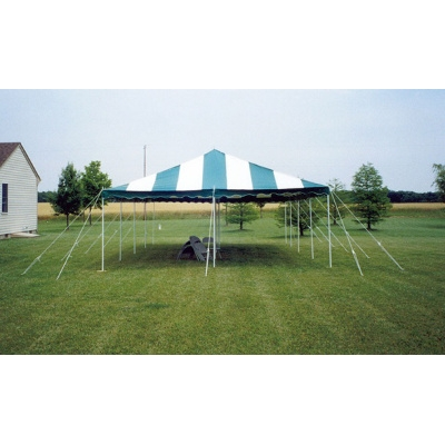 20 x 30 Do It Yourself Canopy Tent - Green & White Striped