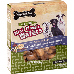 Three Dog Bakery Mini Classic Wafers 13 oz.