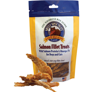 Grizzly Salmon Fillet Treats for Dogs and Cats 3 Ounce