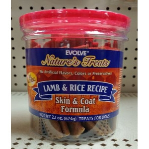 Evolve Nature's Treats Lamb & Rice Skin & Coat Formula 22 Ounce