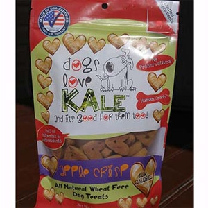 Dogs Love Kale Apple Crisp Wheat Free Dog Biscuits 7oz