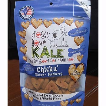 Dogs Love Kale Chicka' Organic Chicken & Blueberry Wheat & Grain Free Dog Biscuits 6oz