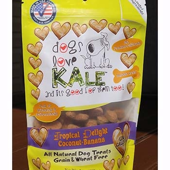 Dogs Love Kale Tropical Delight Wheat & Grain Free Dog Biscuits 7oz