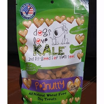 Dogs Love Kale Peanutty Wheat Free Dog Biscuits 7oz