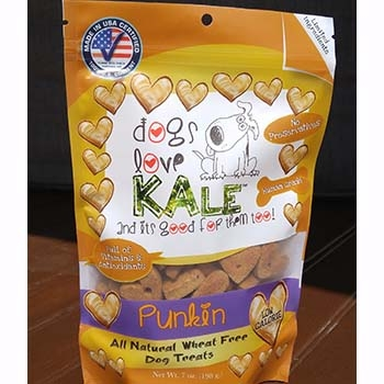 Dogs Love Kale Punkin' Wheat Free Dog Biscuits 7oz