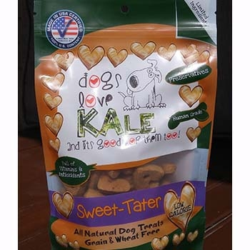 Dogs Love Kale Sweet Tater' Wheat & Grain Free Dog Biscuits 7oz