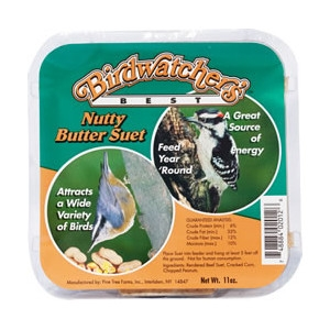 Birdwatcher's Best Nutty Butter Suet 11oz