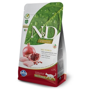 Farmina N&D Chicken & Pomegranate Neutered Cat Food 3.3 lb.