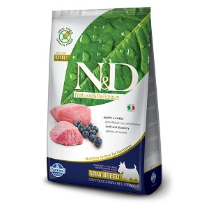 Farmina N&D Lamb & Blueberry Adult Mini Breed Dog Food 5.5 lb.