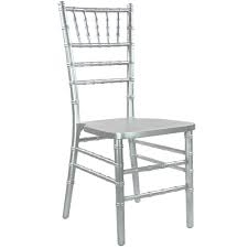 CHAIR, SILVER CHIAVARI