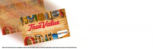 sign up for the true value credit card program.